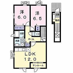 リバ−コ−ト A[0203号室]の間取り