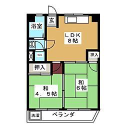 ファミール千代田[3階]の間取り