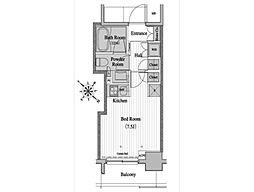 レジディア月島2[8階]の間取り