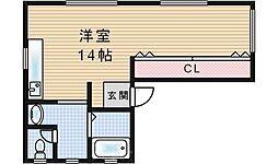 ヒストワール西九条[5階]の間取り