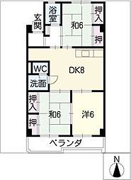 新柳ビル[2階]の間取り