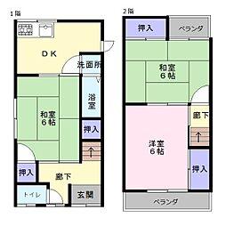 [一戸建] 大阪府堺市西区上野芝向ヶ丘町1丁 の賃貸【/】の間取り