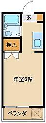 埼玉県所沢市小手指南6丁目の賃貸マンションの間取り