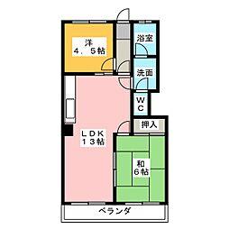 柴昭ハイツ[4階]の間取り