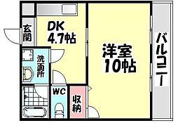 大阪府和泉市伯太町3丁目の賃貸アパートの間取り