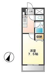 シャトー村瀬 千代田[3階]の間取り
