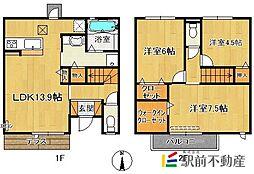 (仮)D-room今の庄[106号室]の間取り