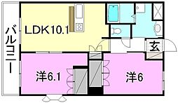 サンライズ・M[203 号室号室]の間取り