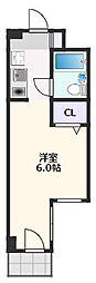 リアライズ阪急吹田II 4階1Kの間取り