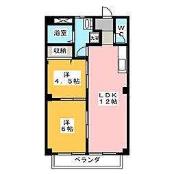 アークヒル[2階]の間取り