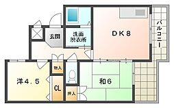大晃マンションII[3階]の間取り