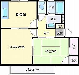 サンガーデン葉の木B棟[2階]の間取り