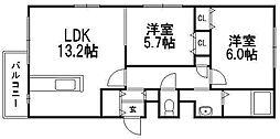 サクラディア苗穂[4階]の間取り