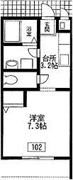 東京都狛江市岩戸南2丁目の賃貸マンションの間取り