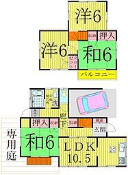 [一戸建] 千葉県柏市豊四季 の賃貸【/】の間取り