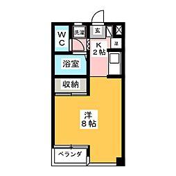 メゾンドキャッスル[3階]の間取り