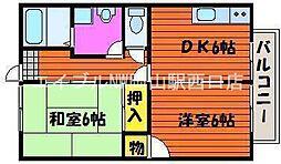 田口コーポII[2階]の間取り