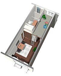 レオパレスレジェンス[1階]の間取り