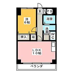 ラ・フィーネヤマセ[1階]の間取り