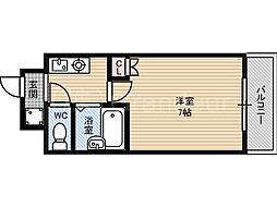 プロムナード都島[4階]の間取り