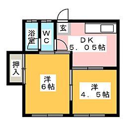 加登屋荘第三[1階]の間取り