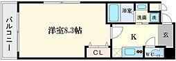 大阪府大阪市西区土佐堀1丁目の賃貸マンションの間取り