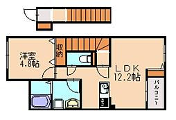 仮)上大隈新築アパートB[2階]の間取り