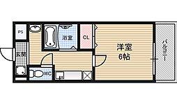 プレミアム新福島[11階]の間取り