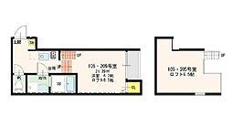 愛知県名古屋市北区杉村1丁目の賃貸アパートの間取り