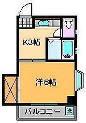コーポ長崎[3階]の間取り