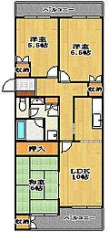 メゾンSHIROU[4階]の間取り
