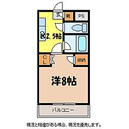 ピュアー・トップピラ[3階]の間取り