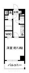 近鉄京都線 東寺駅 徒歩9分の賃貸マンション 4階1Kの間取り