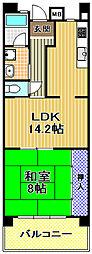 酉島リバーサイドヒルなぎさ街19号棟[8階]の間取り