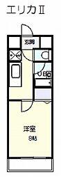 エリカ2[3階]の間取り