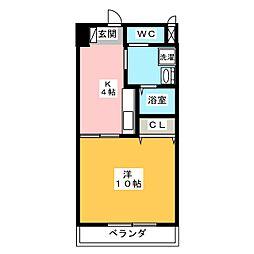 ファミーユ檀[2階]の間取り