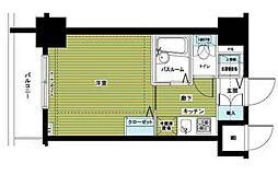 アヴァンティーク銀座2丁目参番館 10階1Kの間取り