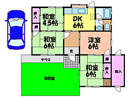 [一戸建] 愛媛県松山市高岡町 の賃貸【/】の間取り