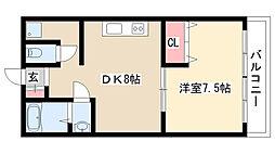 愛知県名古屋市守山区八剣2丁目の賃貸マンションの間取り