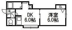 北海道札幌市豊平区平岸四条4丁目の賃貸アパートの間取り