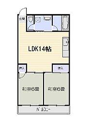 粟井ビルディング[3階]の間取り