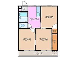 コーポさわやかパートIII[2階]の間取り