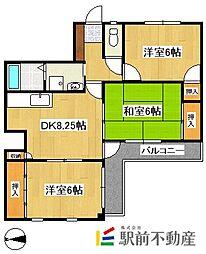 パープルシャトー[7階]の間取り