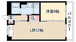愛知県名古屋市緑区ほら貝1丁目の賃貸マンションの間取り