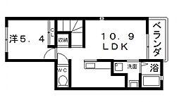 フェリチェート[2階]の間取り