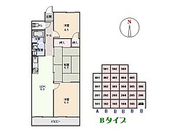 第二八幡台マンション[201号室]の間取り