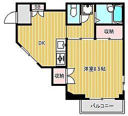 神奈川県川崎市中原区宮内4丁目の賃貸マンションの間取り