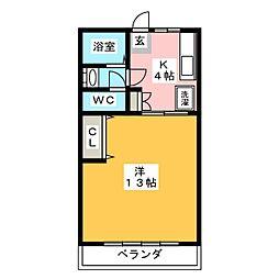 フォレストサイド越戸[1階]の間取り