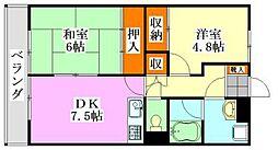 三井ファイン[401号室]の間取り