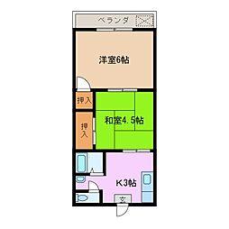 コーポさくら[3階]の間取り